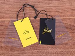 Бирки, пластик, бумага, дизайнерский картон, эко бирки