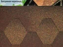 Битумная черепица Акваизол мозайка