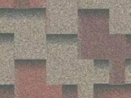 Битумная черепица Кедровый (красный серый корич. тень)