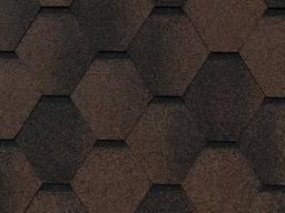 Битумная черепица КРЗ RoofShield коричневая с оттенением