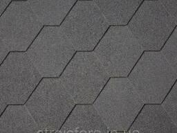 Битумная черепица Superglass Hex (01) Black, IKO (айко)