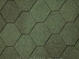 Битумная черепица Superglass Hex (03) Amazon Green, IKO. ..