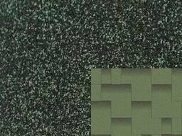 """Битумная черепица Зелёная ЭКО """"Акцент"""", размер: 1000х320 мм"""
