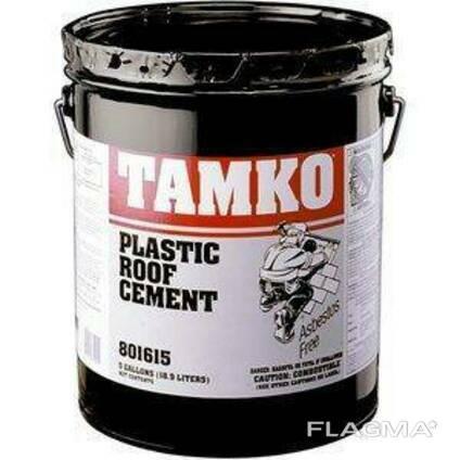 Битумный клей Tamko Wet/Dry Roof Cement 18,7л/25кг