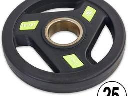 Блины полиуретановые с хватом и металлической втулкой d-51мм 2. 5кг