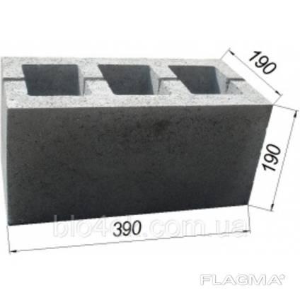 Блок бетонный стеновой Золотой Мандарин М-75 40.20.20