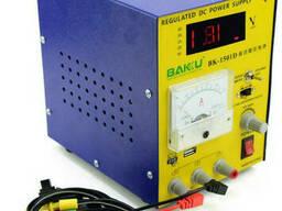 Блок питания с цифровой индикацией Bakku BK 1501D (15 вольт 1 ампер, защита от кз )
