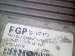 Блок управления двигателем Opel Corsa C 1. 3cdti 55187472 Бло