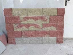 Блок заборный колотый декоративный