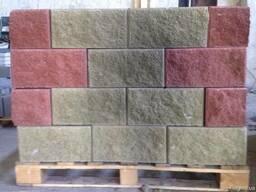 Блок колотый декоративный заборный