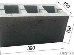 Блок строительный 390х190х90