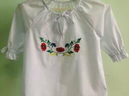 Блуза детская, подрастковая, вышитая, вышиванка, украинская