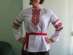 Блуза украинская с тесьмой, женская, пошив под заказ