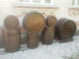 Бочки дубовые винно-коньячные, купели дубовые
