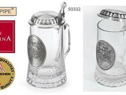 Бокалы для пива фирмы Артина олово, стекло Австрия – Германи