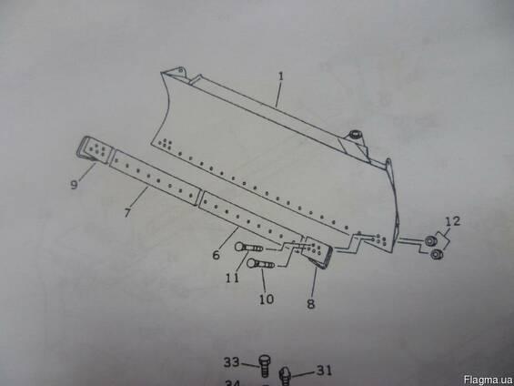 Боковые лезвия для лопаты бульдозера