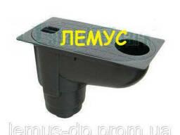 Бокс водосточный пластиковый с вертикальным отводом