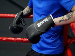 Боксерські рукавиці PowerPlay 3011 Чорно-Білі карбон 16 унцій SKL24-252434