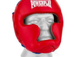 Боксерський шолом PowerPlay тренувальний 3068 PU, Amara Червоно-Синій XS SKL24-144817