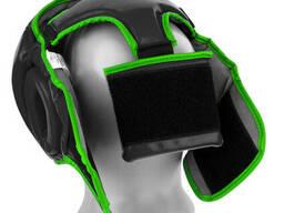 Боксерський шолом PowerPlay тренувальний 3068 PU, Amara Чорно-Зелений M SKL24-144822