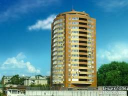 Большая 2х ком квартира в Центре, 74 м. кв. в новом доме