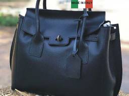 Большая женская сумка TS000074 натуральная кожа Италия
