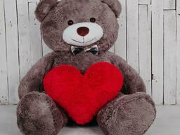 Большой плюшевый медведь с сердцем Yarokuz Джеральд 165. ..