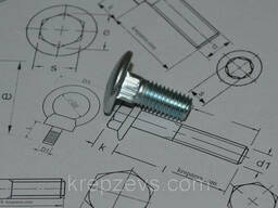 Болты мебельные М5 DIN 603, ГОСТ 7802-81