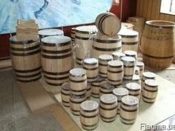 Бондарное производство: бочки дубовые, кадки, купели...