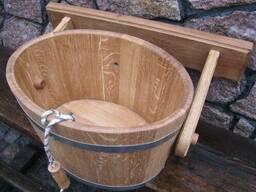 Бондарные изделия для бани (ведро-водопад)