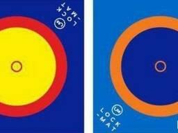 Борцовский ковер трехцветный 14м х 14м с кругами