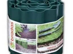 Бордюр пластиковый 9м*20см, зелёный, коричневый