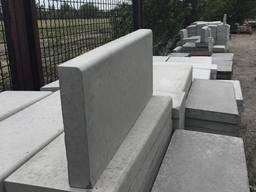 Бордюр поребрик бетонный вибролитой 500 х 200 х 35