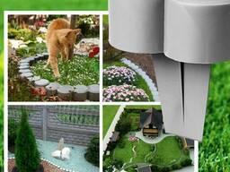 Бордюр садовый. Пластиковый бордюр для клумб и дорожек.