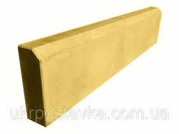 Бордюр тротуарный, поребрик LAND Brick желтый 500х210х65 мм