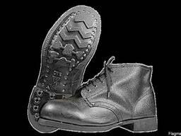 Ботинки гвоздевой метод крепления, юфтевые