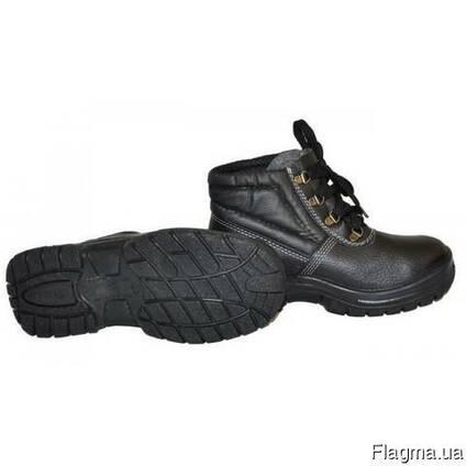 Ботинки кожаные на ПУП, утепленые с металическим носом