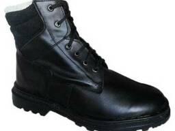 Ботинки кожаные, утеплённые