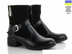 Ботинки кожаные женские демисезонные - Хит сезона