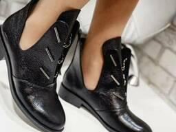 Ботинки открытые кожа натуральная