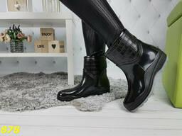 Ботинки полусапоги резиновые утепленные непромокаемые. ..