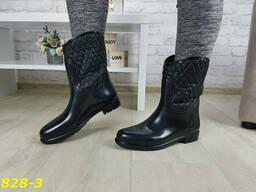 Ботинки полусапожки резиновые непромокаемые утепленные. ..
