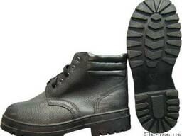 Ботинок рабочий с мягким кантом утепленный, юфть/кирза