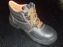 Ботинки рабочие кожаные - фото 1