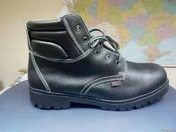 Ботинки рабочие кожаные мужские литьевые