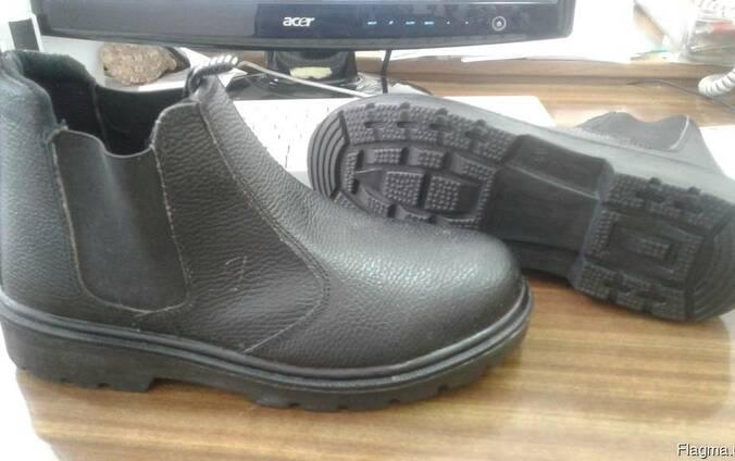 Ботинки рабочие кожаные на ПУ подошве