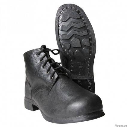 Ботинки рабочие, подошва на гвоздях, на шнурках