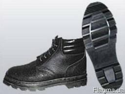 Ботинки рабочие утепленные, юфть/кирза, клее-прошивной метод