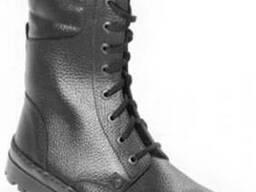Ботинки с высокими берцами хромовые
