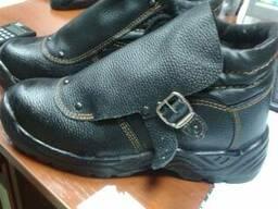 Ботинки сварщика, пу подошва, литьевого метода крепления